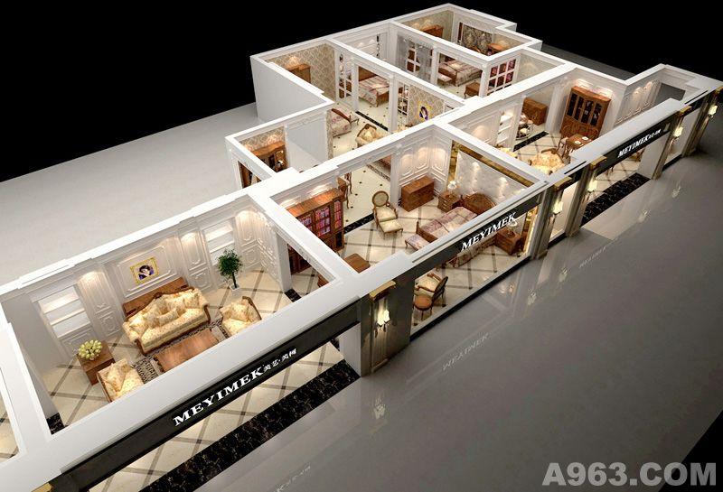红木家具展示厅,家具展示厅,办公家具展示厅装修,诺佳家具样