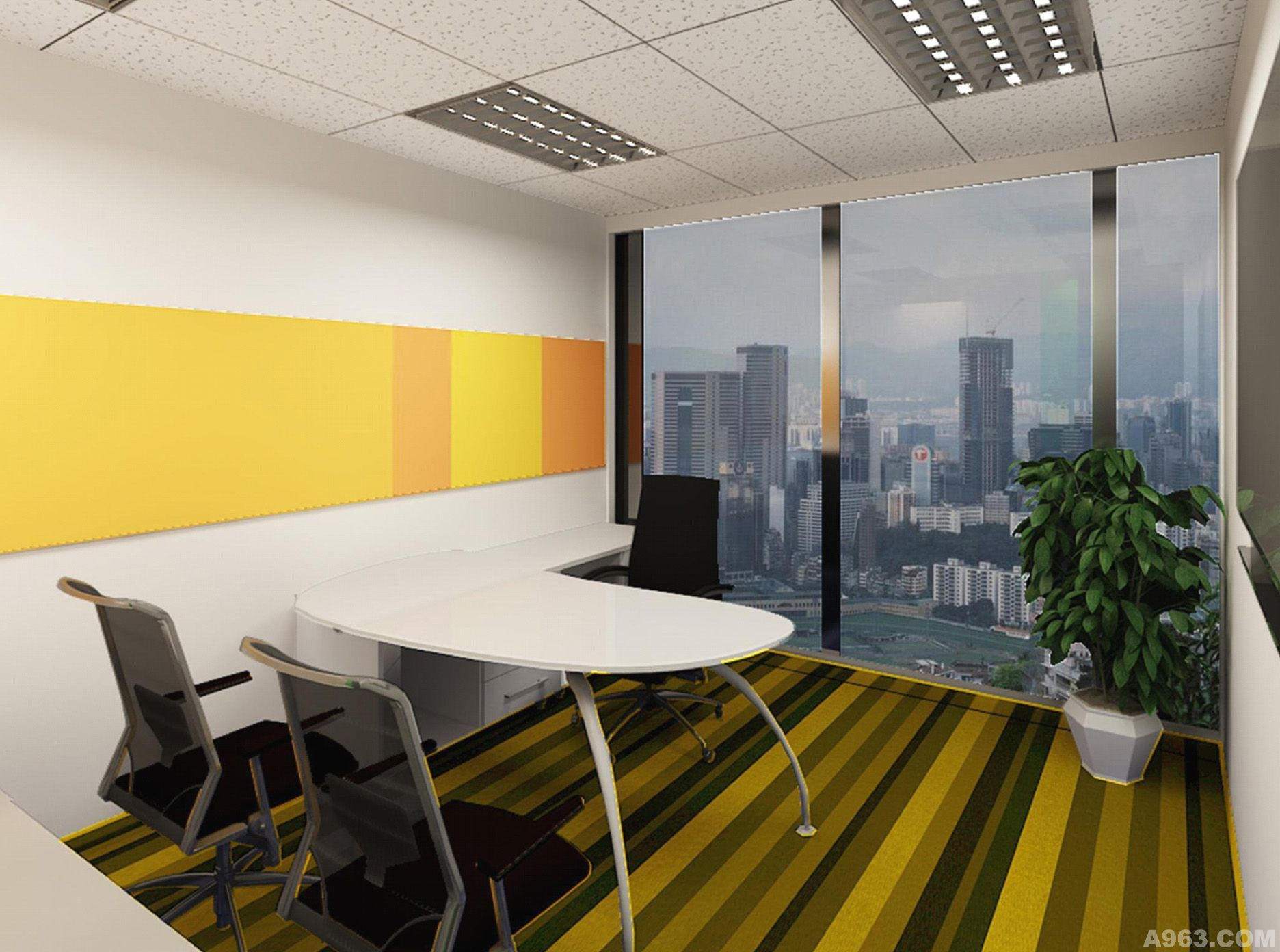 中华室内设计网 作品中心 公共空间 办公空间 > 上海弘杰装饰设计工程