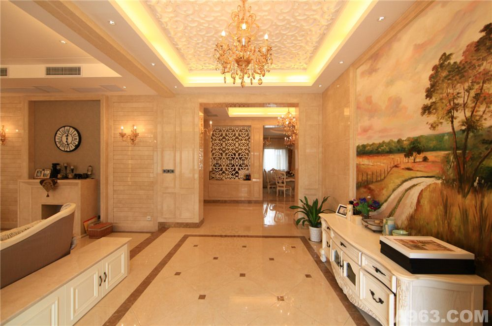 作品中心 住宅空间 别墅豪宅 > 上海奥邦装饰设计作品  别墅装修欧式