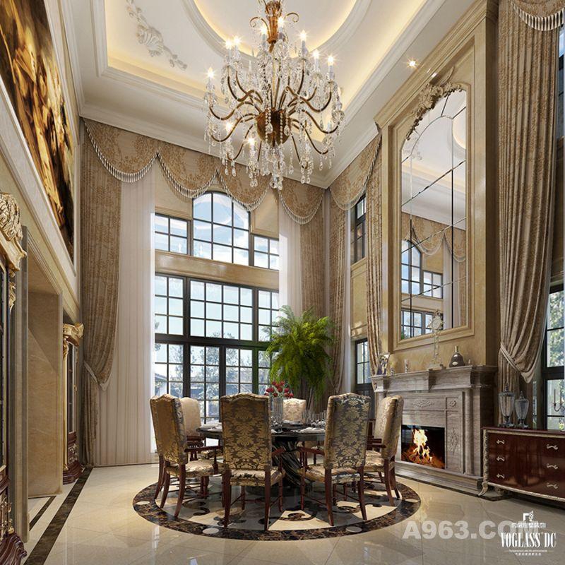 别墅楼梯玄白色马欧式玄关背景