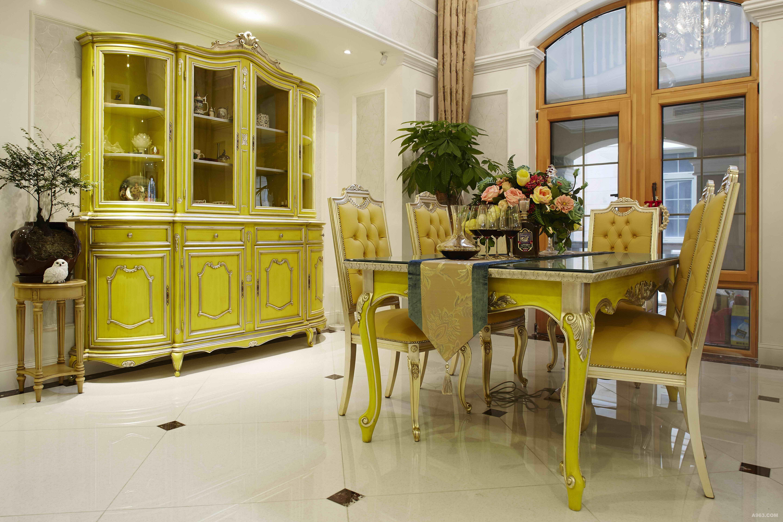 安墁西郊独栋别墅新古典风格装修案例【餐厅】