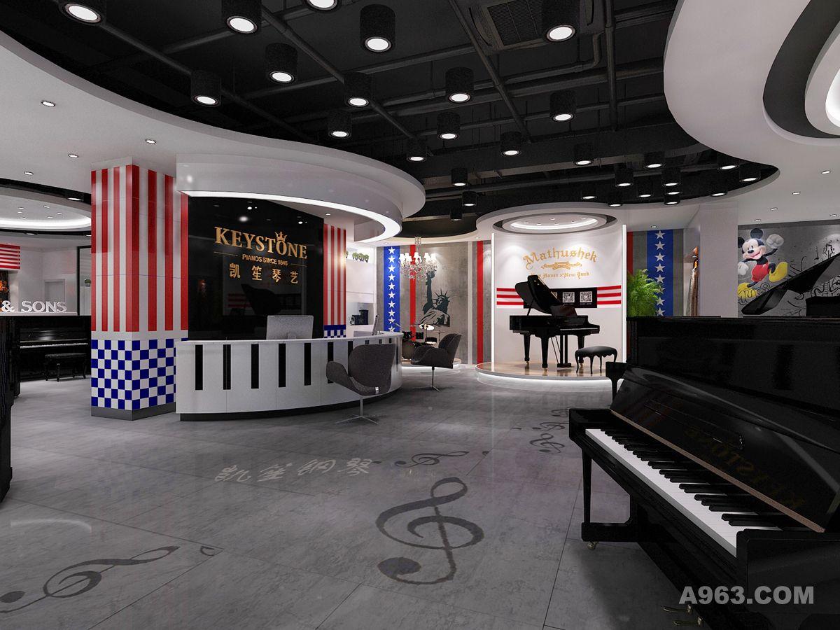 凯笙钢琴展厅连锁 - 展示空间 - 李景光设计作品案例