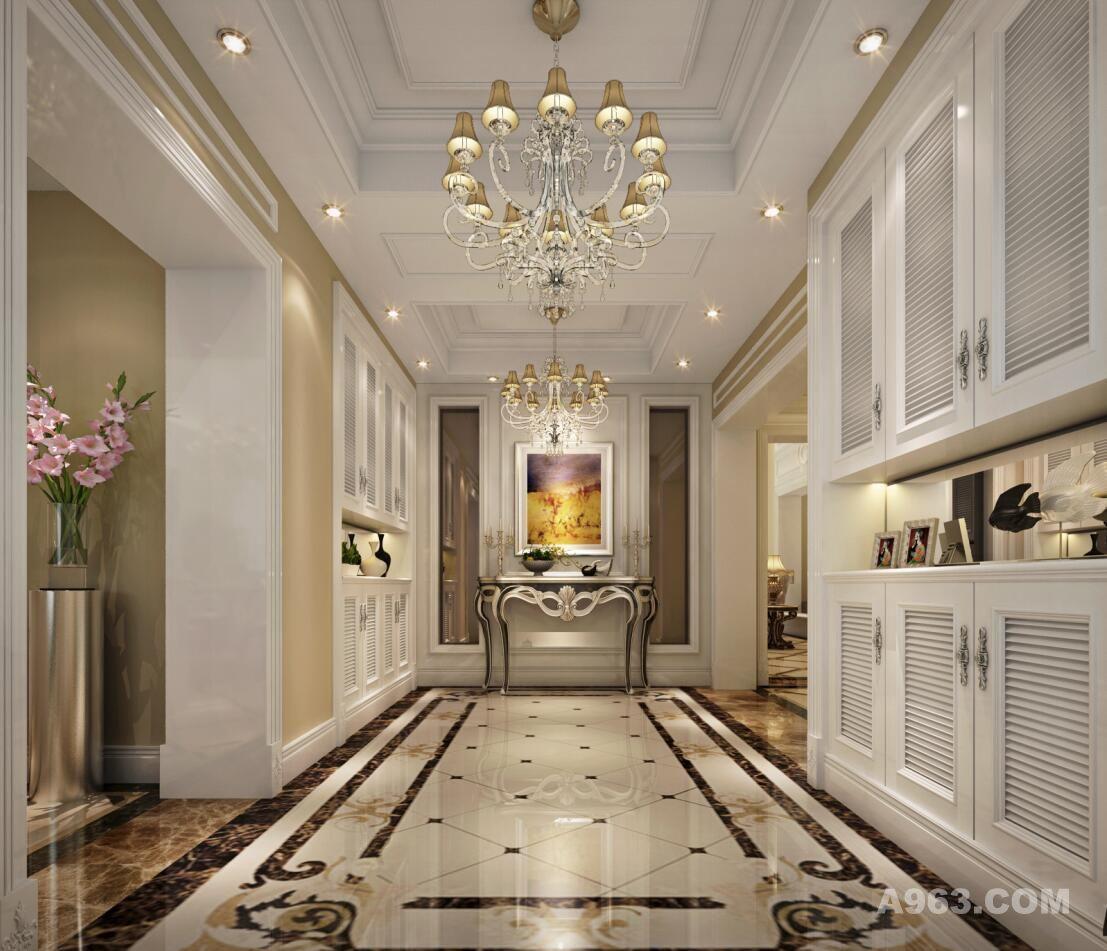 招商海廷别墅装修欧式风格设计方案,腾龙设计师曹晖作品说明
