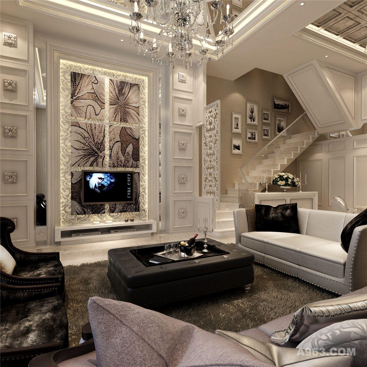 御沁园别墅装修简约欧式风格设计方案