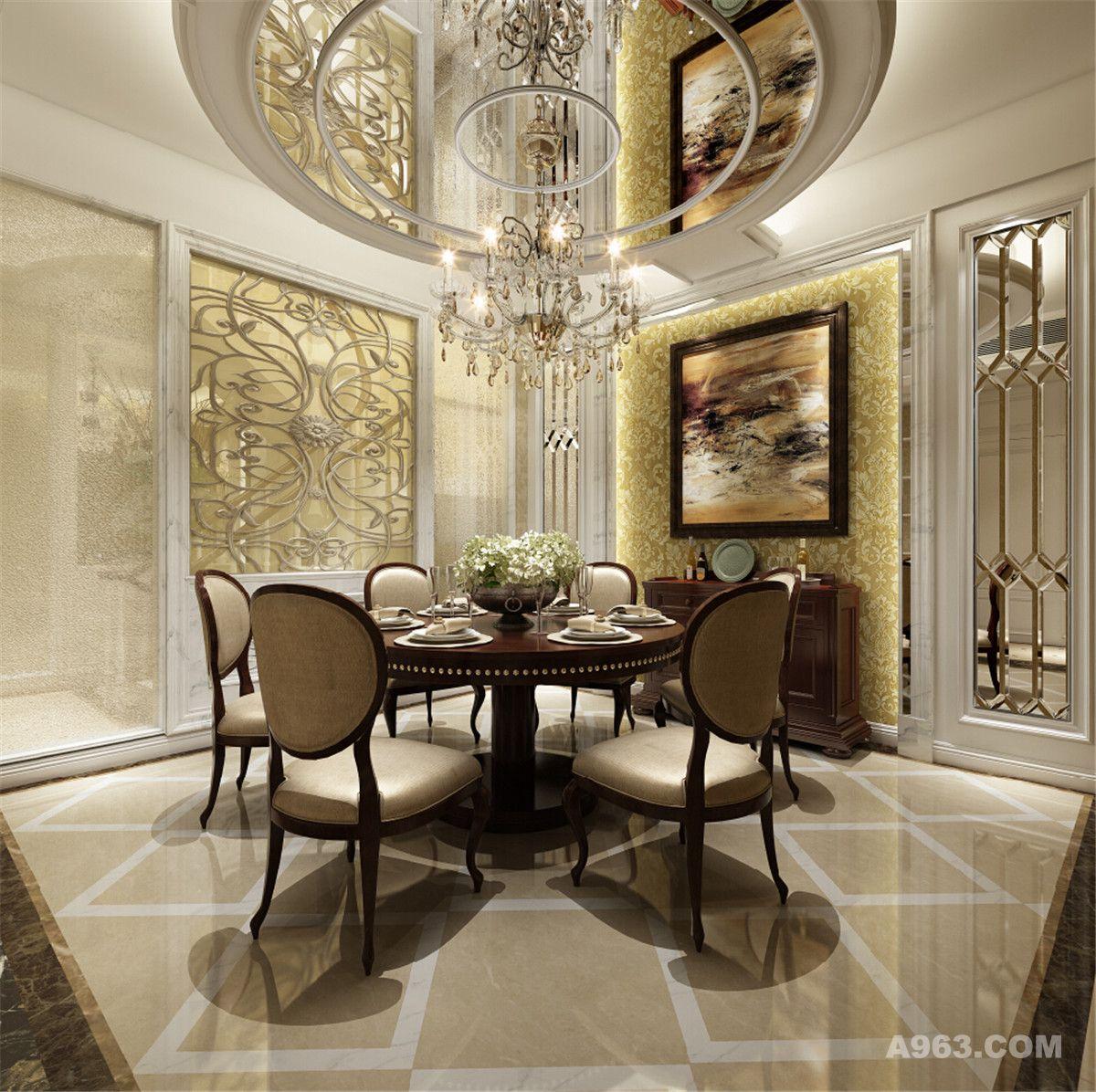 中邦艺墅别墅装修美式风格设计方案展示说明