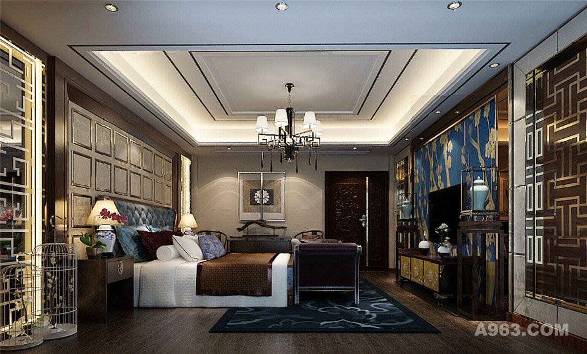长泰西郊别墅户型装修新中式风格设计方案展示