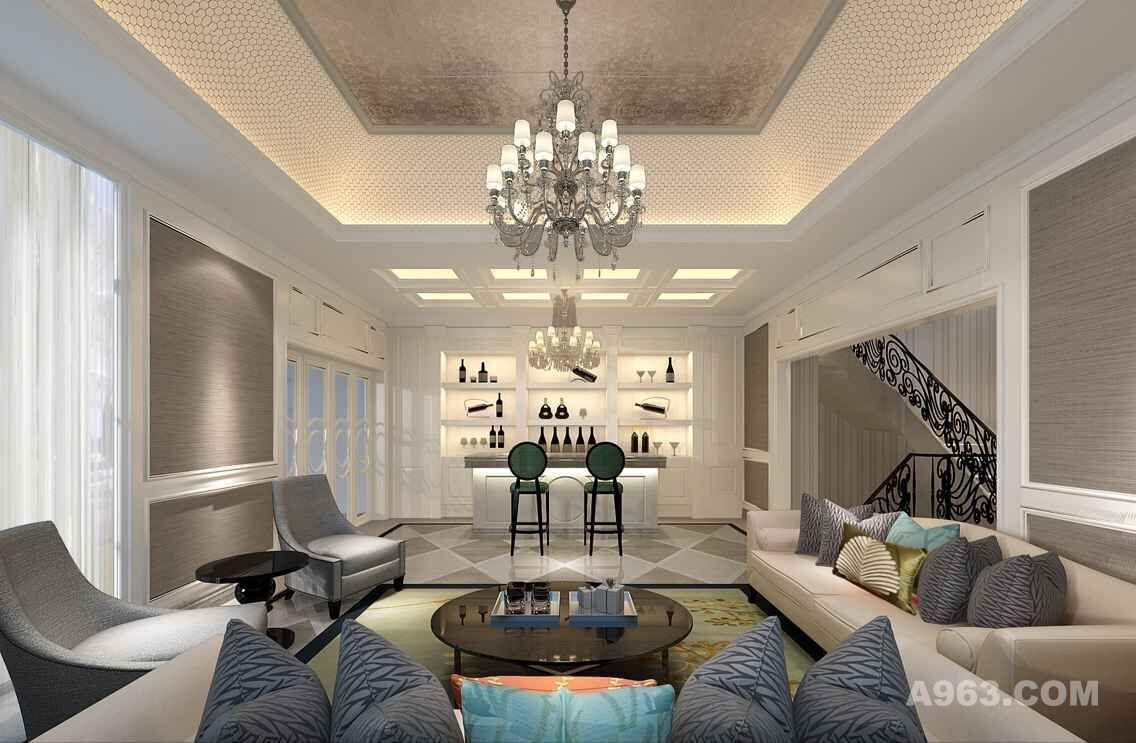 中建府邸别墅装修欧式古典风格设计方案展示
