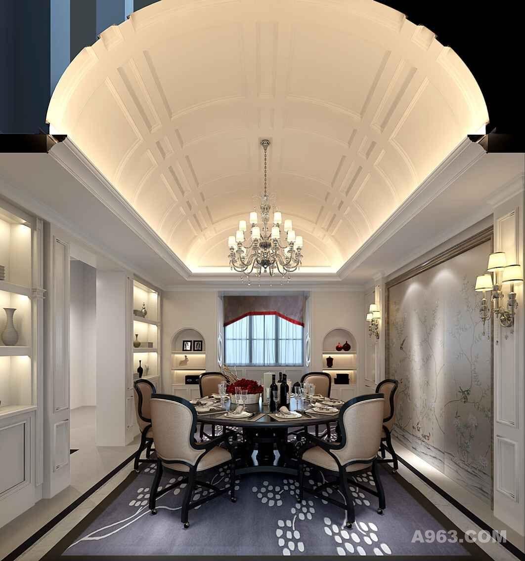 中建府邸别墅装修欧式古典风格设计方案展示,说明