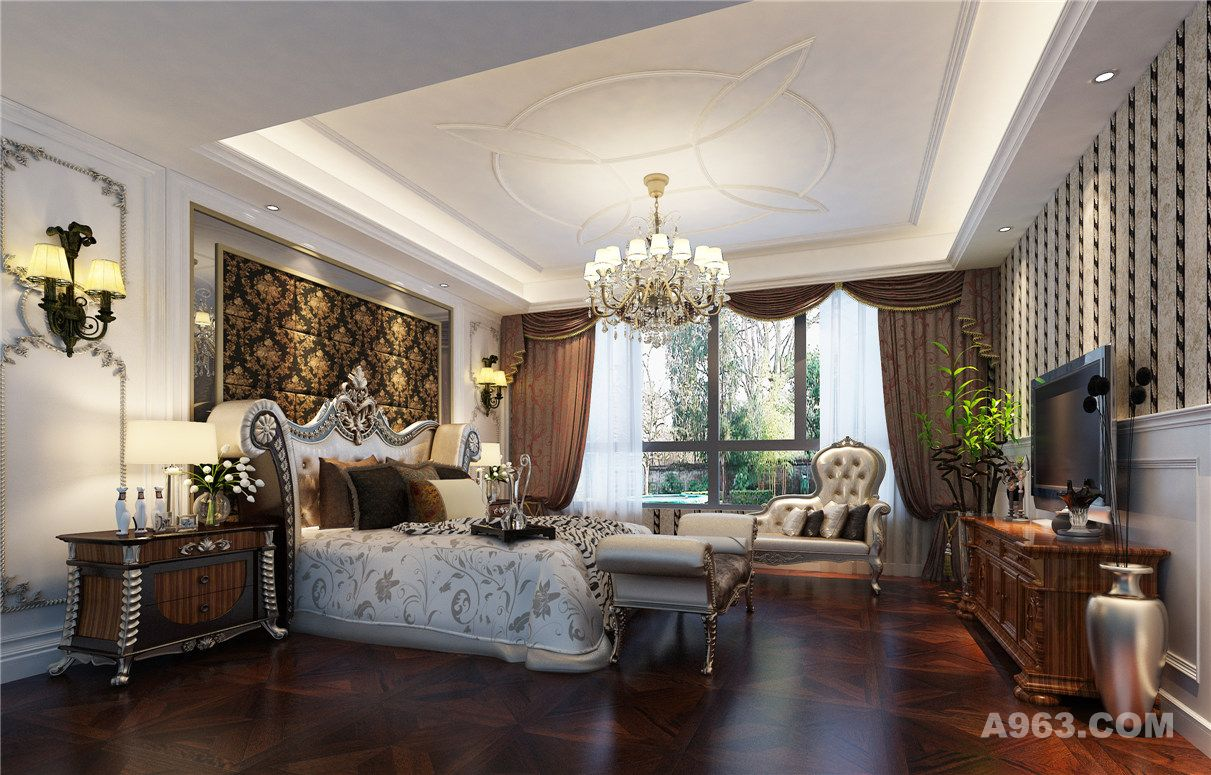 汇丰豪轩别墅装修新中式风格设计方案说明