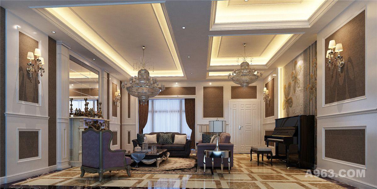 西上海御庭别墅装修欧式新古典风格设计 - 别墅豪宅