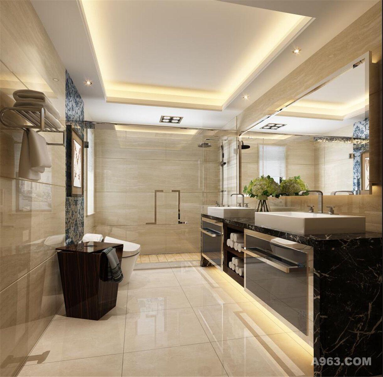 高桥新城别墅装修欧美风格设计方案展示说明