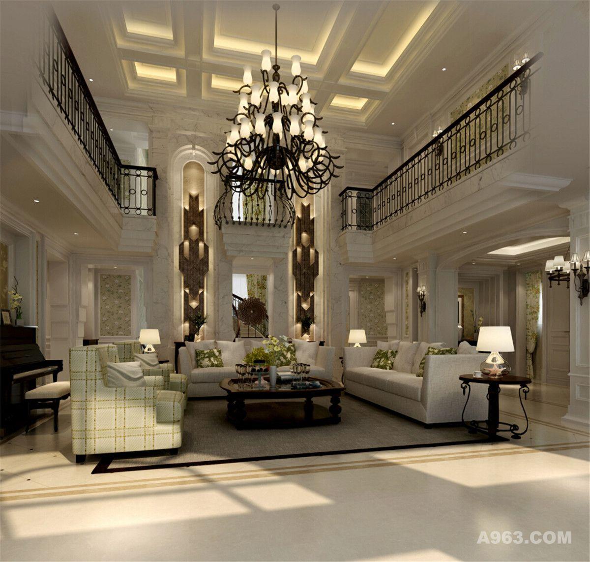 户型装修欧美风格设计方案展示,腾龙别墅设计师孔继民作品,欢迎品鉴