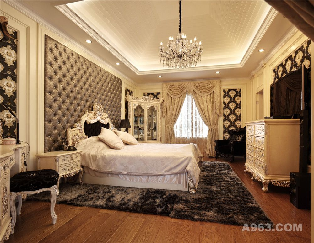 圣淘沙花园别墅户型装修欧式新古典风格设计方案展示,上海腾龙别墅
