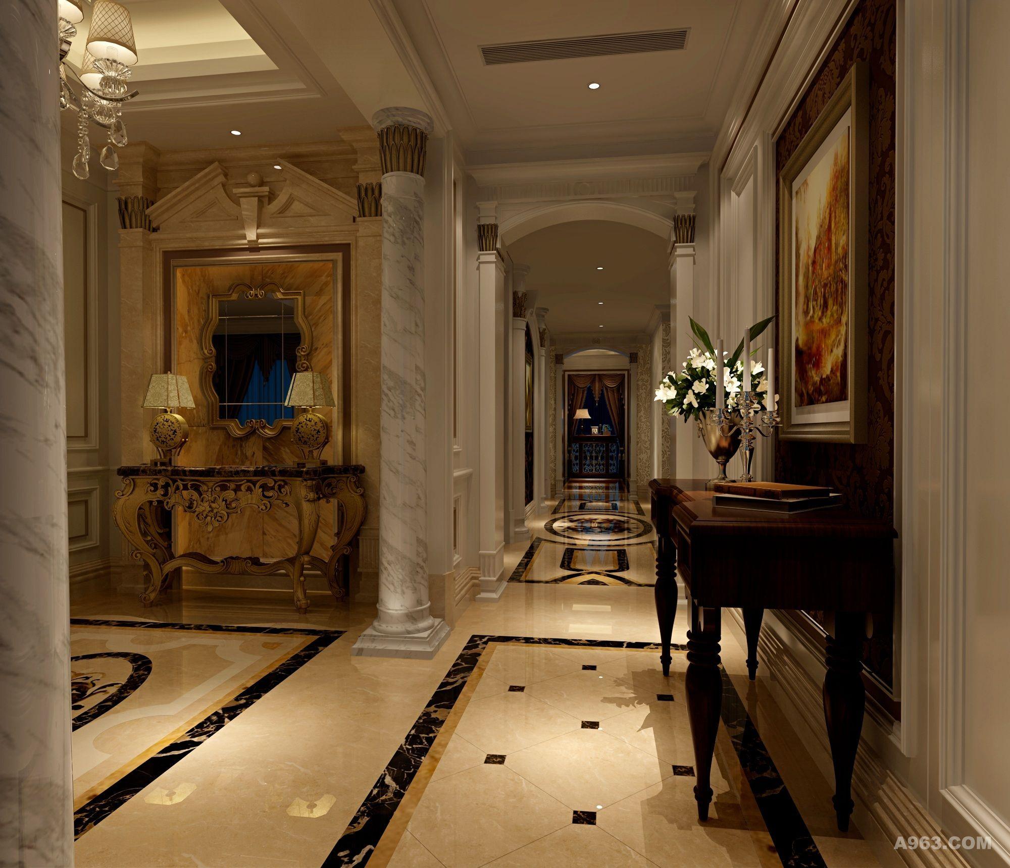 向东岛别墅装修欧式新古典风格设计方案展示!说明