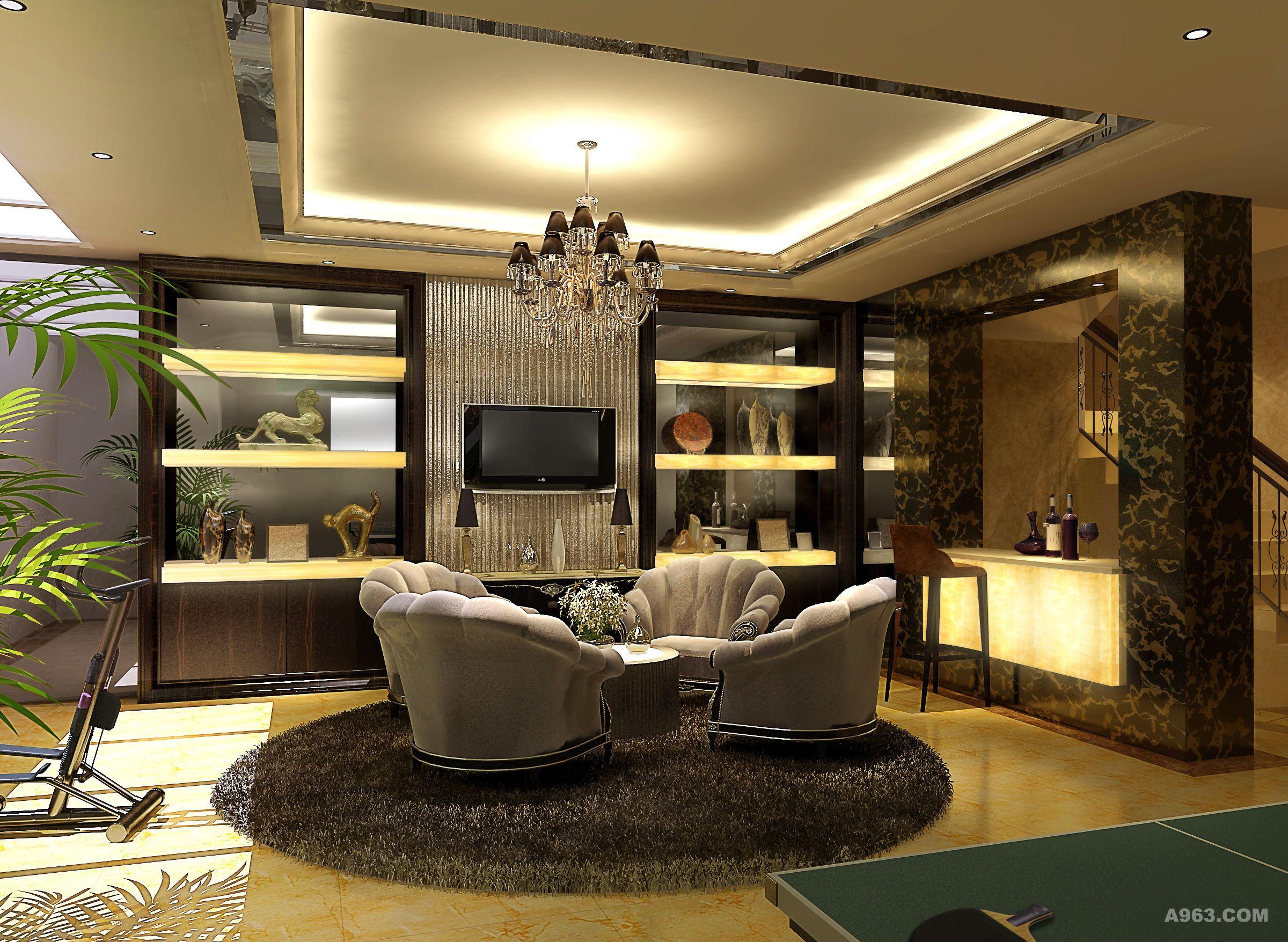 博园岚郡别墅装修欧式古典风格设计方案展示