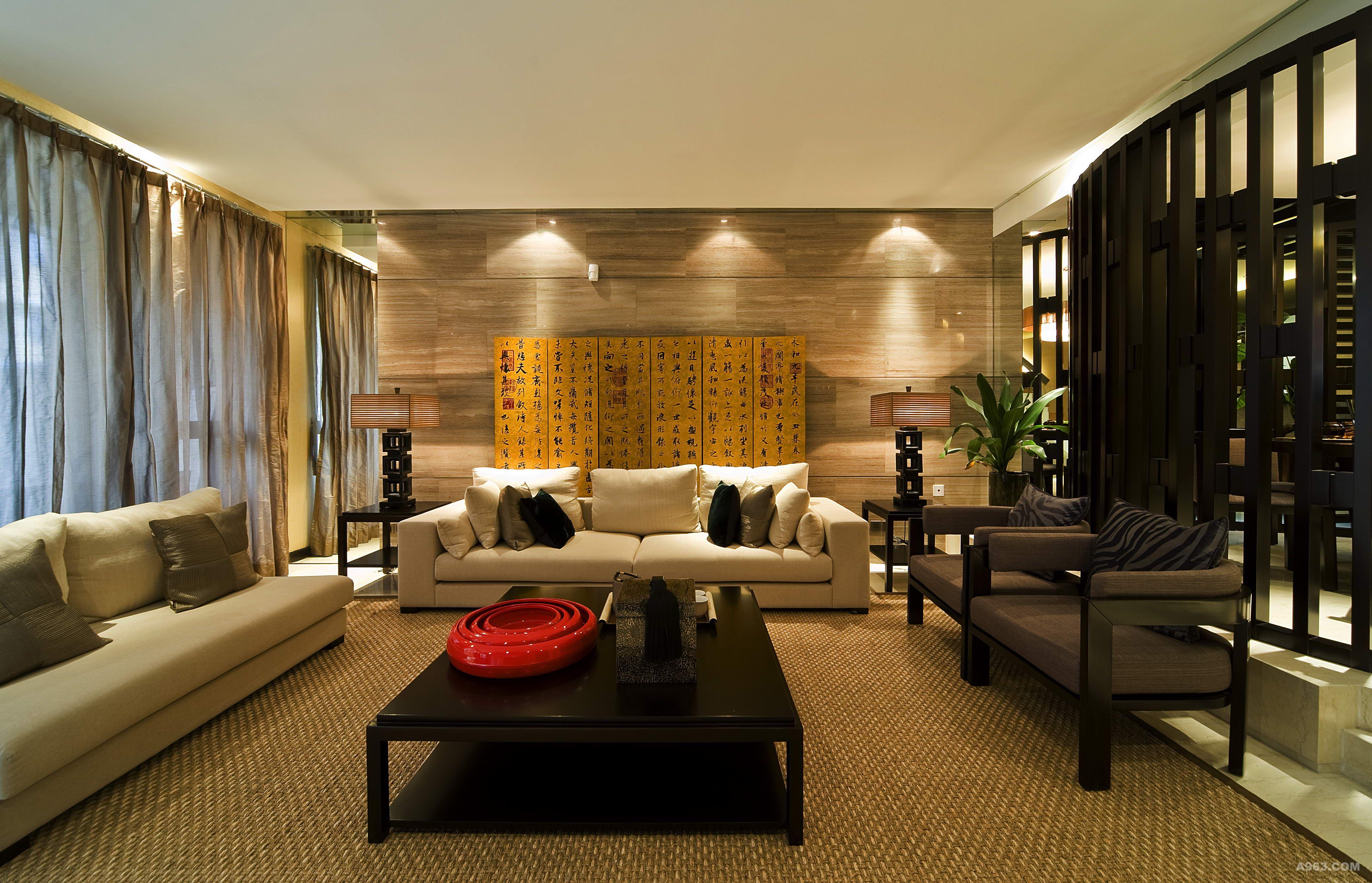 别墅装修中式风格完工案例实景展示,上海腾龙别墅设计