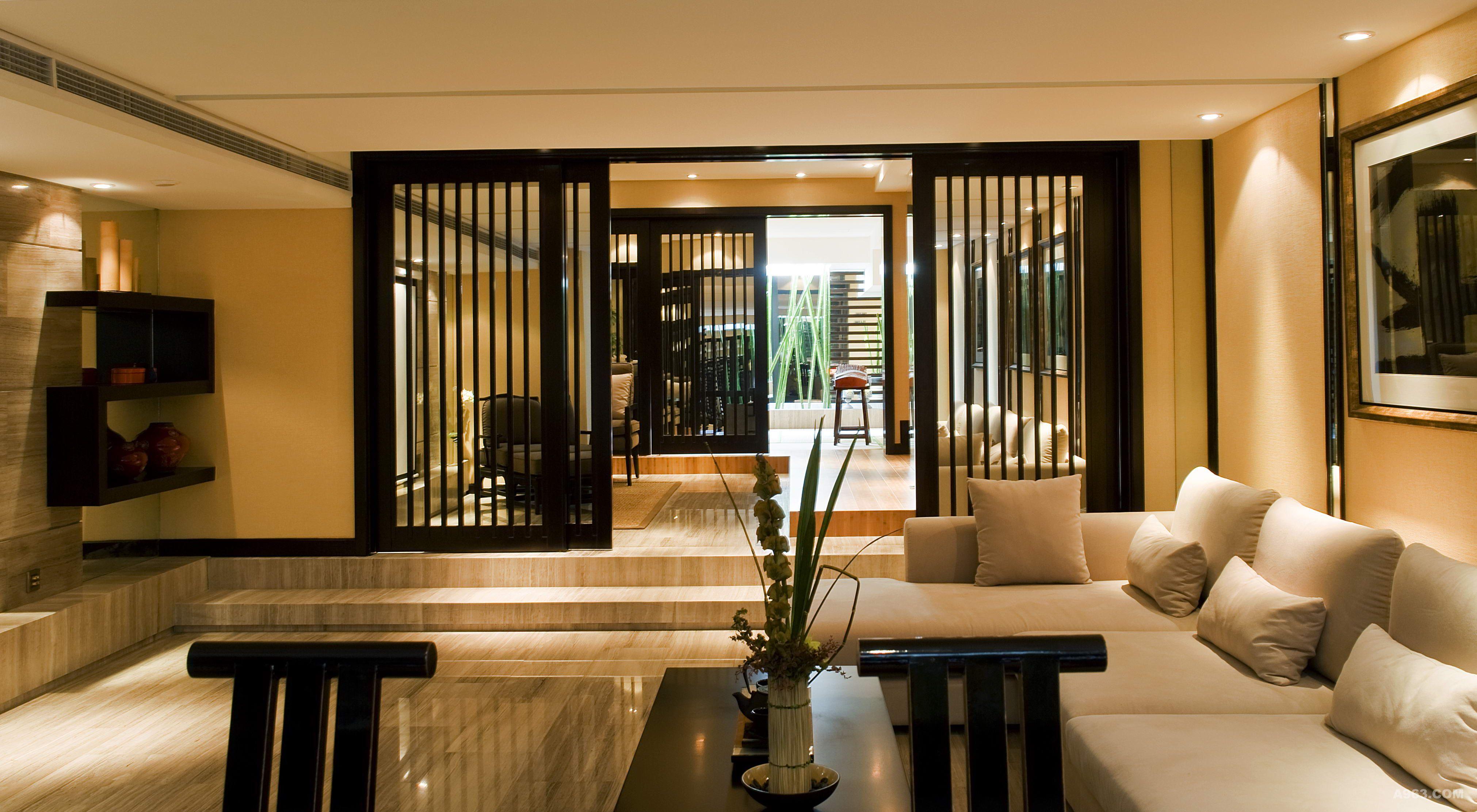 别墅装修现代中式风格完工案例实景展示!说明