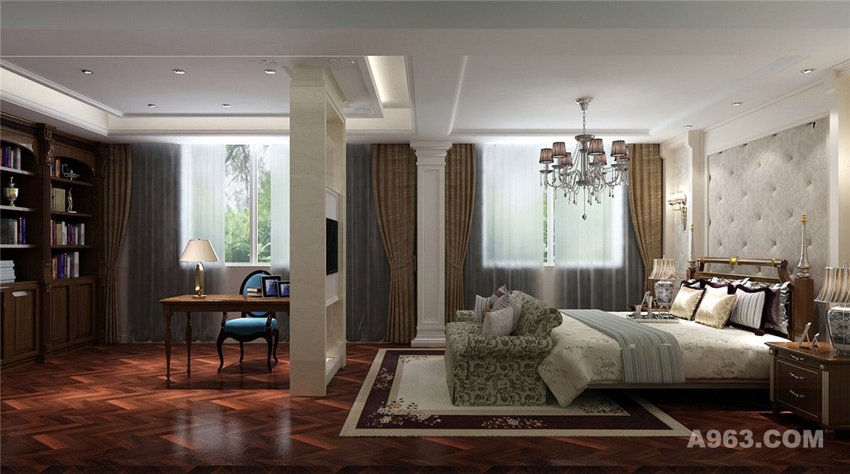 绿洲香格丽花园别墅装修欧式古典风格设计!