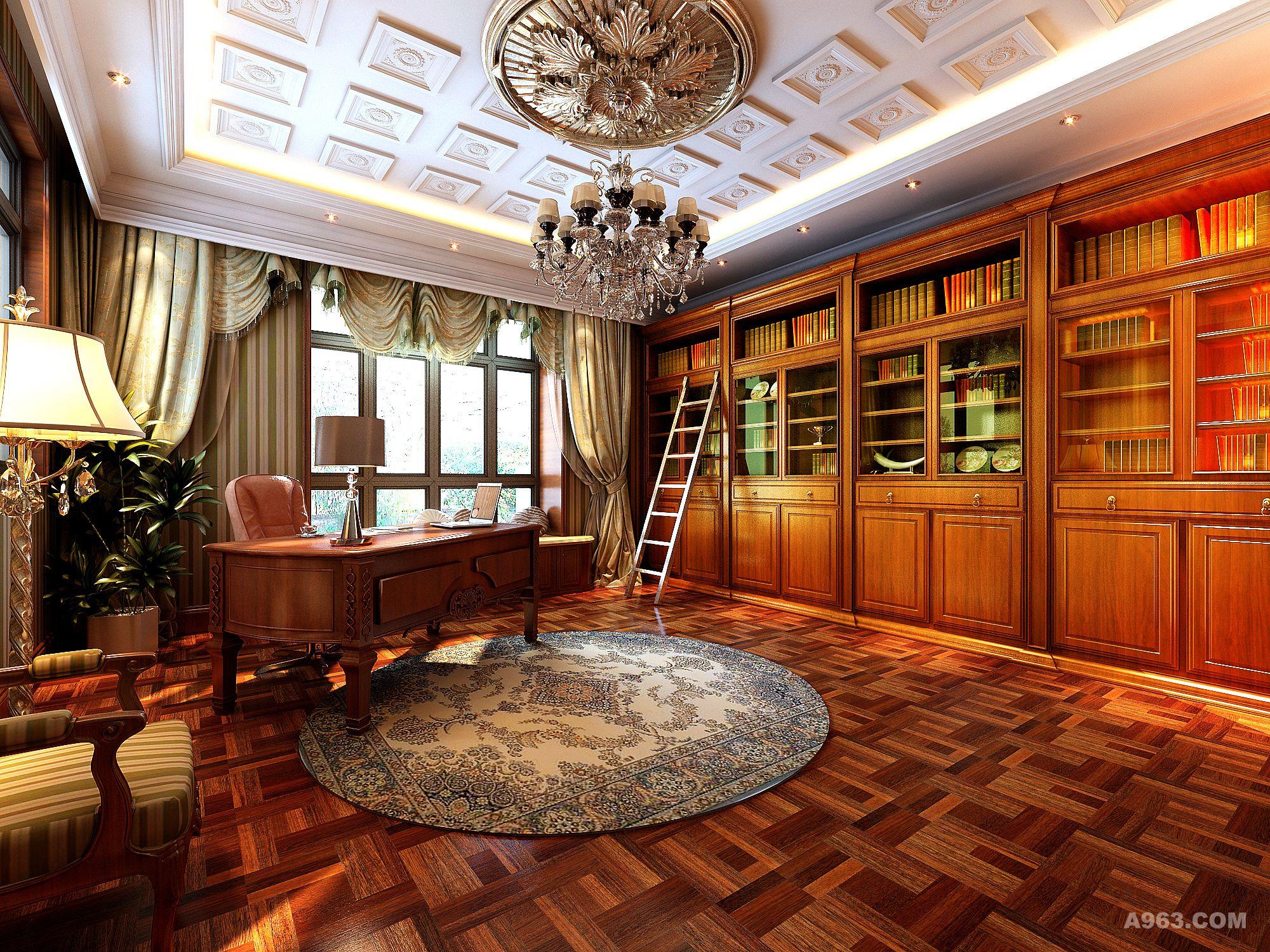 佘山月湖山庄别墅户型装修欧式古典风格设计方案展示,上海腾龙别墅