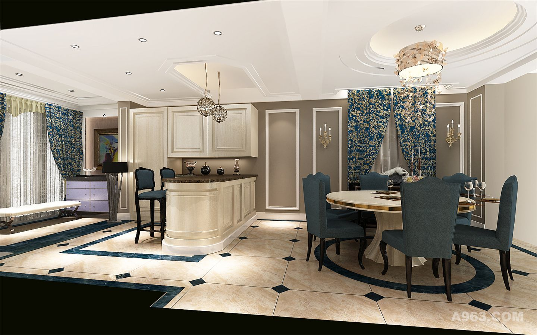 明泉璞院别墅装修美式风格设计方案展示!