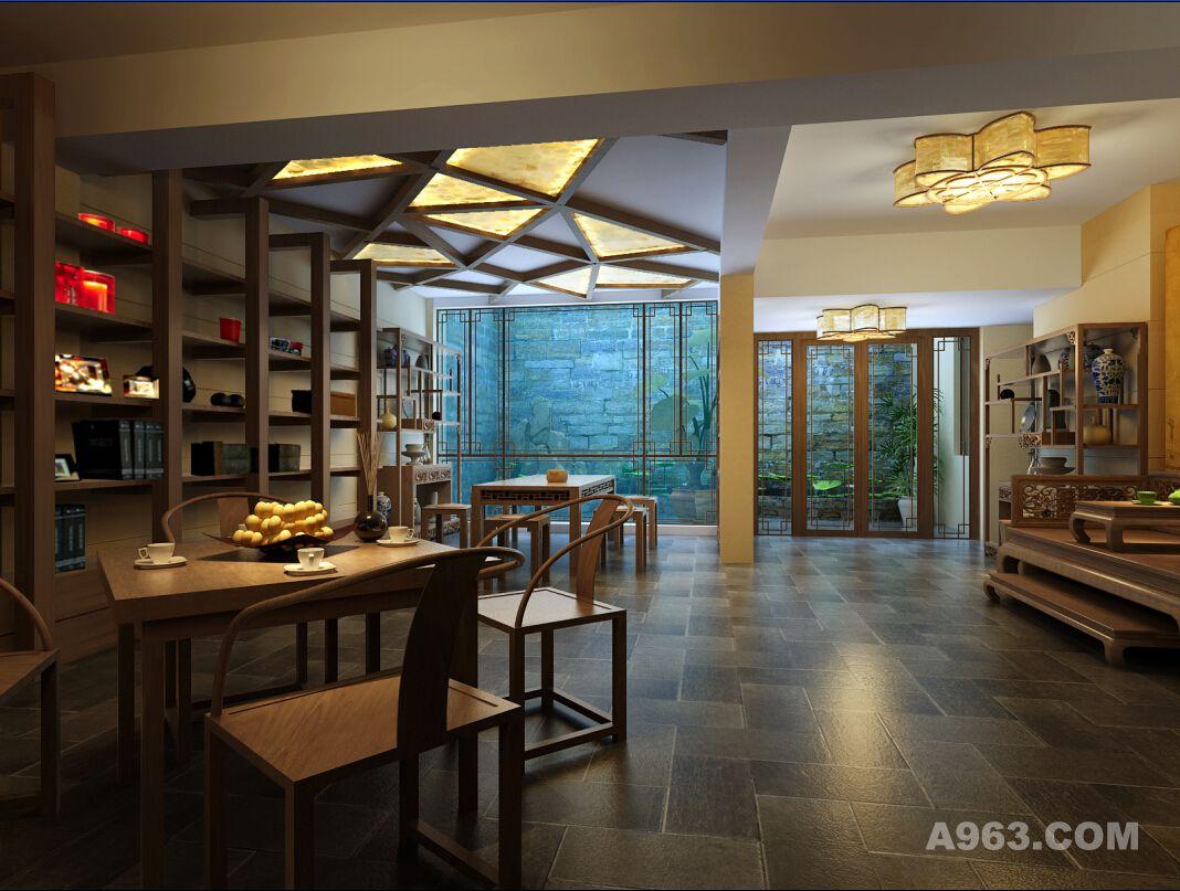 别墅装修韵味中式风格设计方案展示,上海腾龙别墅设计!
