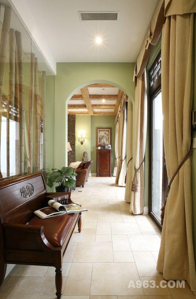 绿城玉兰花园别墅装修美式风格设计方案展示说明