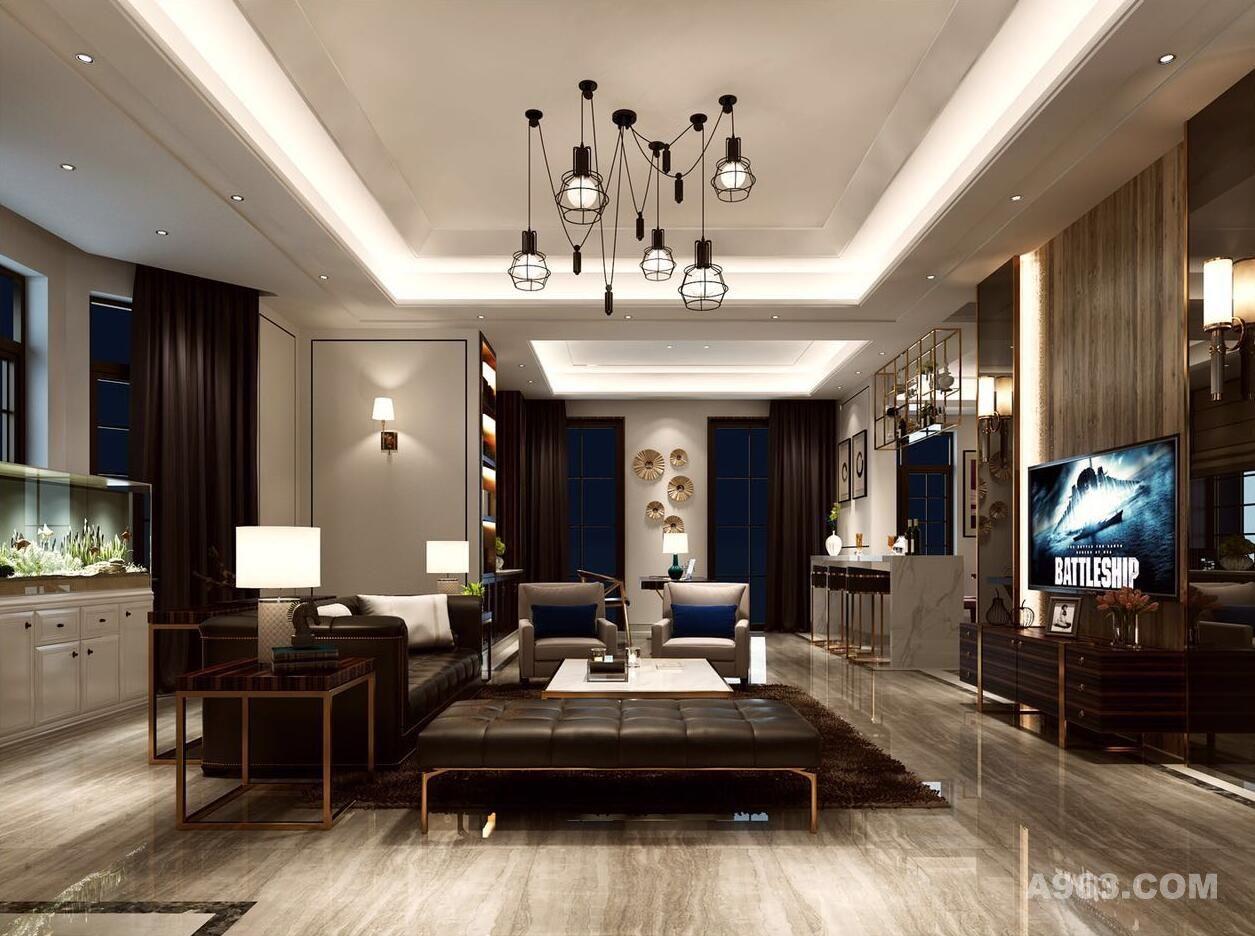 中星红庐别墅户型装修现代风格设计方案展示,上海腾龙别墅设计师曹晖