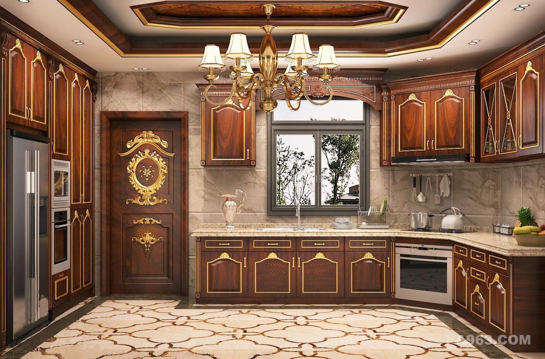 挑空别墅装修法式古典风格设计方案展示——上海腾龙别墅设计