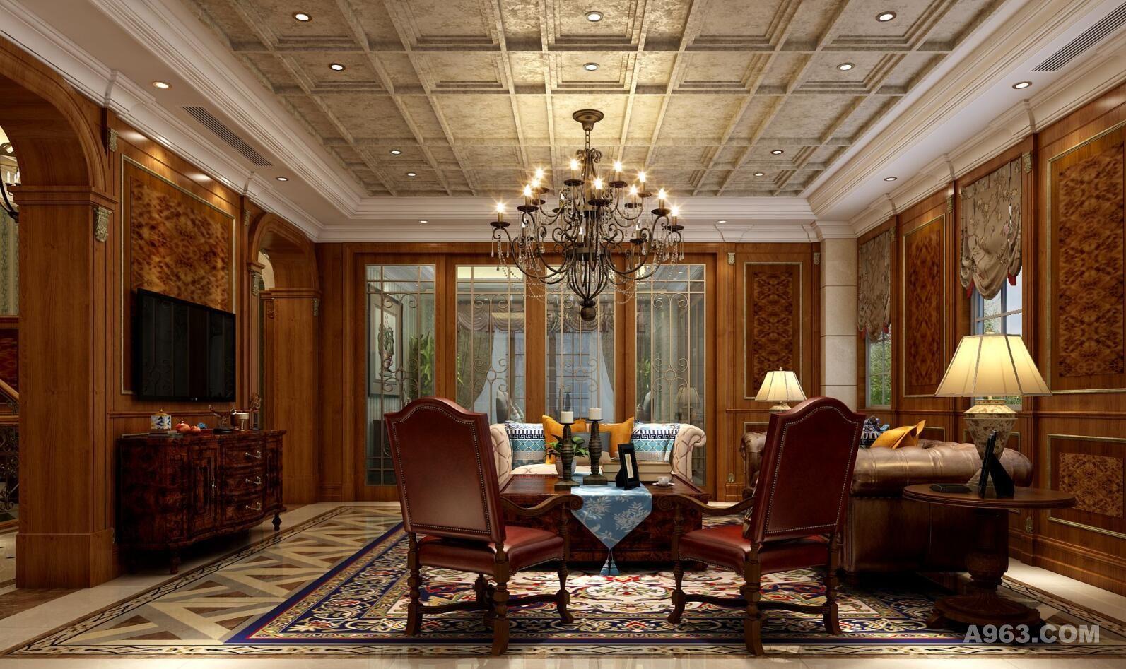 圣得恒业别墅装修新古典风格设计说明