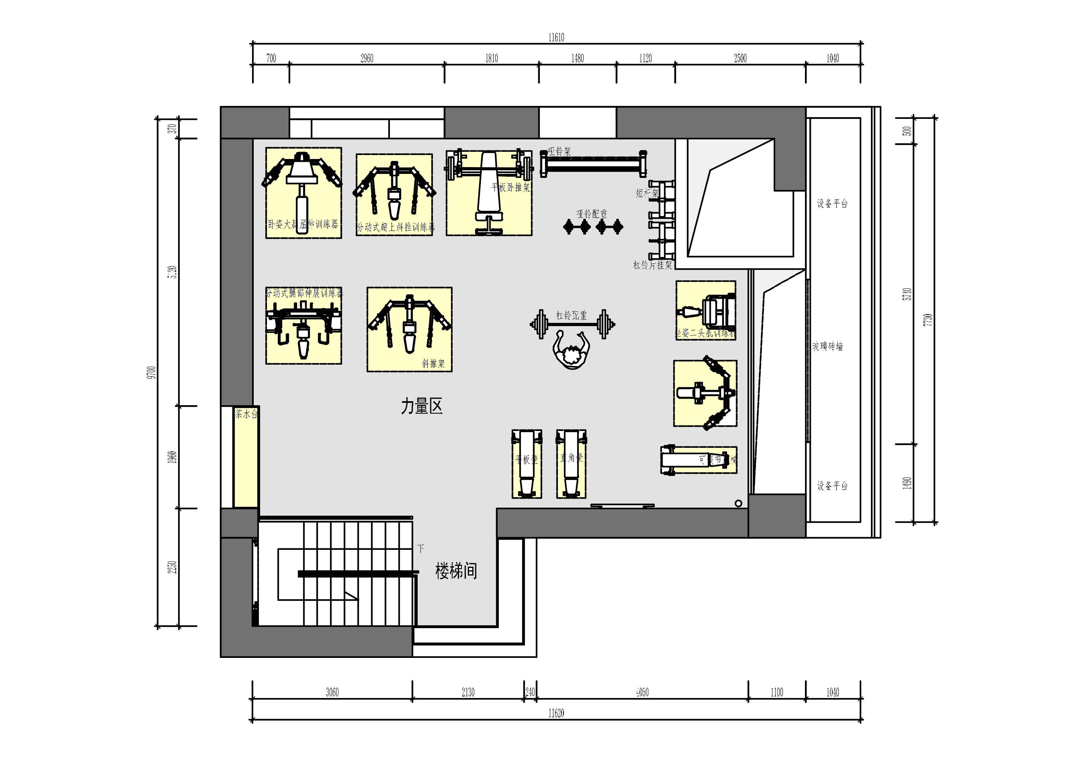 健身房 - 商业空间 - 第10页 - 陈熠设计作品案例